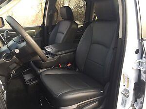 2013-2017 Dodge Ram Crew Cab Katzkin Black Leather Kit Jump Seat 2pc NEW