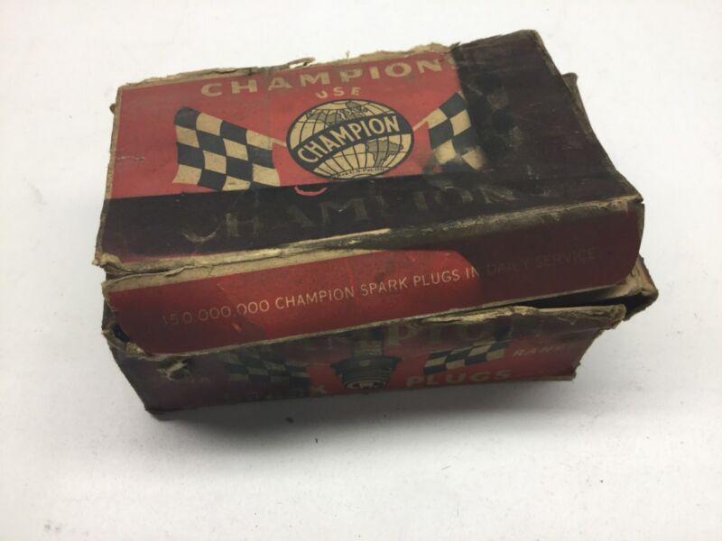 (9) Vintage Champion NOS Spark Plugs R-11