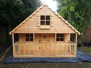 8x8  2 storey swiss chalet  playhouse