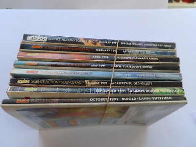 Vintage (1991) Magazines: ANALOG  SCI-FI  (8 Issues - Missing March/July/Nov/Dec