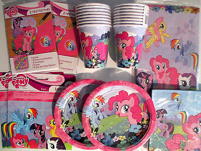 MY LITTLE PONY  Birthday Party Supply Pack DELUXE Kit w/ Invitations & Loot Bags ()