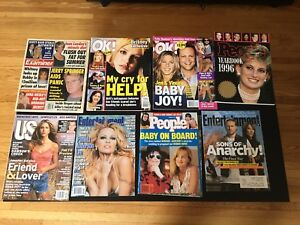 Stack of Entertainment/Tabloid Magazines