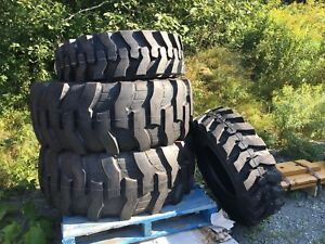 Brand new front and rear backhoe Tires. 19.5L24 & 12.5/80-18