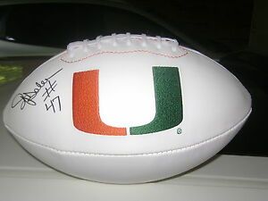 Ottis-O-J-Anderson-Miami-Hurricanes-Signed-Logo-Football-New-York-Giants-NFL