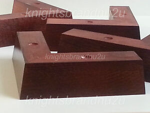 4x solid wooden feet legs for sofas chairs stools - Patas para sofas ...