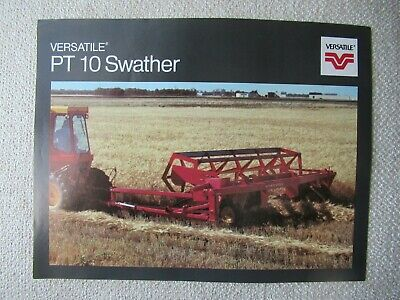 Versatile Pt10 Swather Specification Sheet Brochure