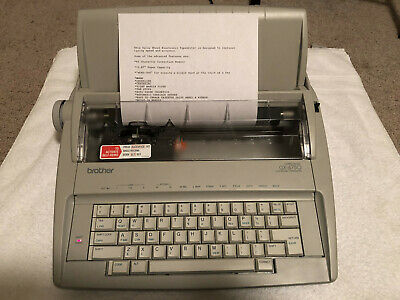 Brother Gx-6750 Electric Typewriter - Tested Working Cover Manuals Included