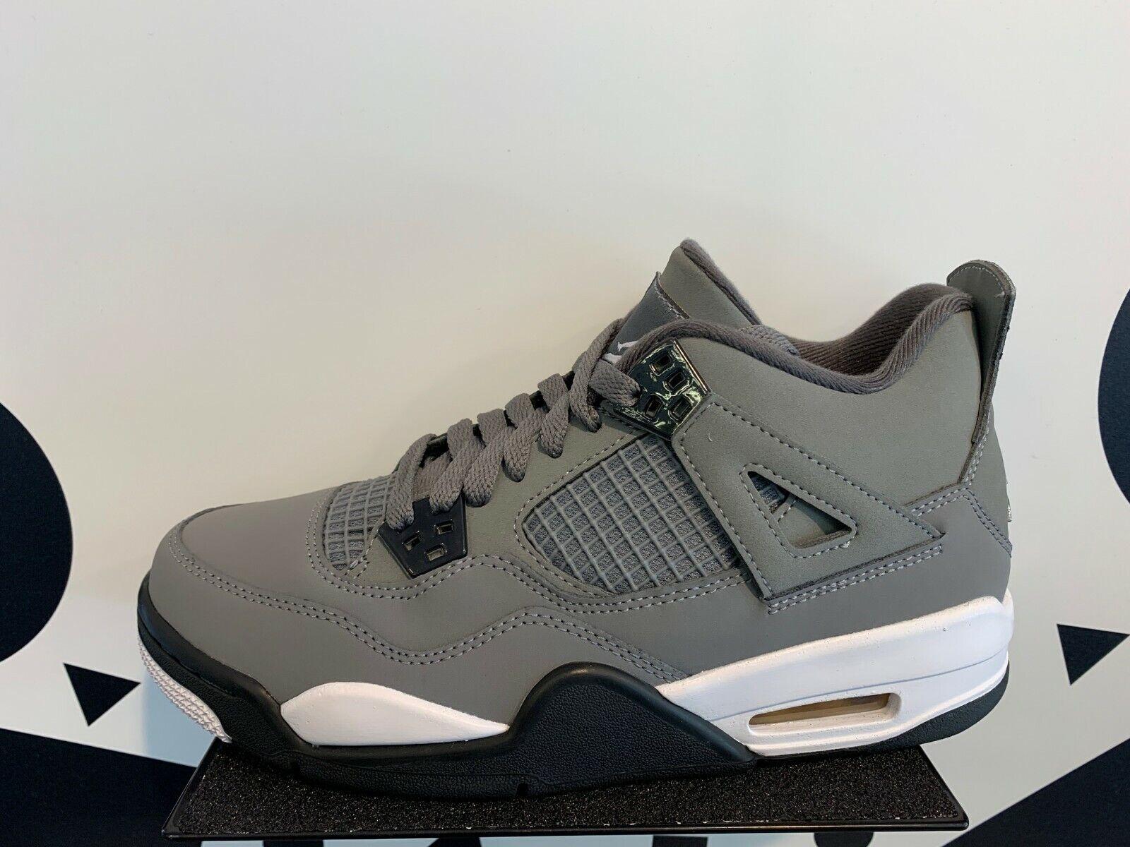 NIKE Air Jordan Retro 4 IV Cool Grey Black Gray GS PS TD Baby Kid Women Sz 1C 7Y
