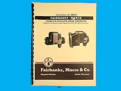 Fairbanks Morse Magneto Instruct Parts Manual For Fm-jv4b Fm-jve4b Mags422
