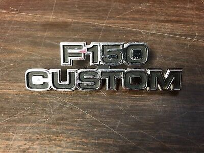 1977 1978 1979 FORD TRUCK F150 CUSTOM EMBLEM NAMEPLATE NOS FORD 1118