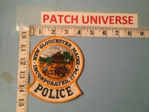 VINTAGE NEW GLOUCESTER MAINE POLICE  SHOULDER PATCH  M053
