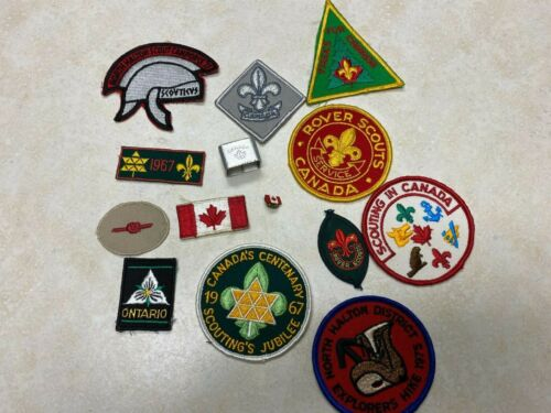 Lot of Scouts Canada Patches, Slide, Pin