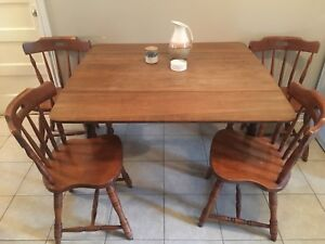 Oak Table + Solid wood Chairs