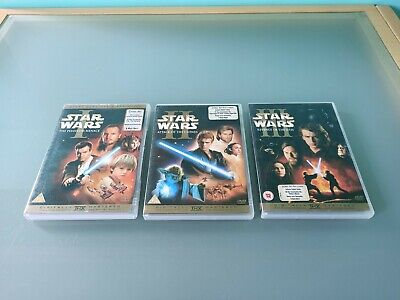 STAR WARS PREQUEL TRILOGY DVD COLLECTION 6 DISCS COMPLETE GOOD CONDITION