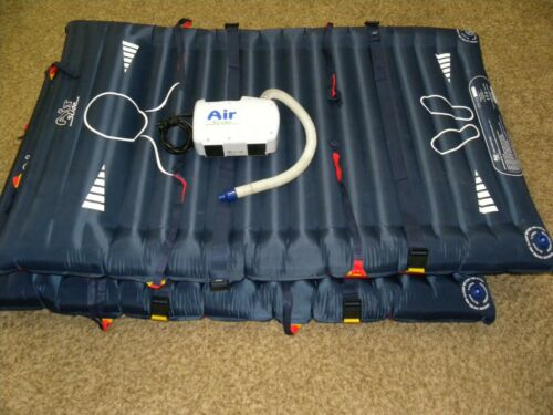 McAuley Medical Air Slide Lateral Transfer System ASA100 Pump w/ (2) Mattresses
