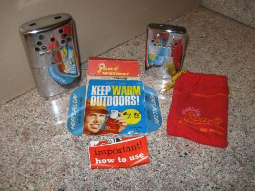 2 Vintage Jon-E Hand Warmers- Big & little