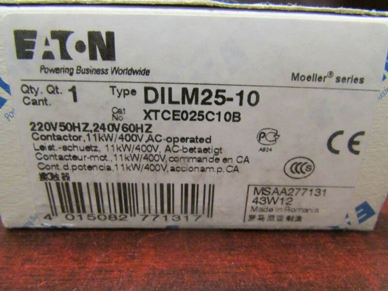 XTCE025C10B DILM25 10 Eaton Klockner Moeller  Contactor