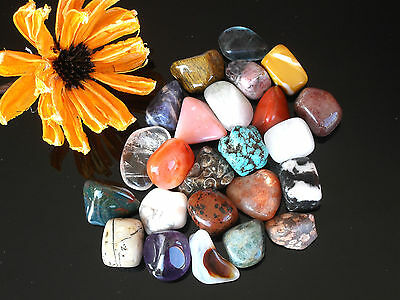 Large CRYSTAL TUMBLESTONES  20-30 mm - List A - Tumbled Stone Chakra Gemstone