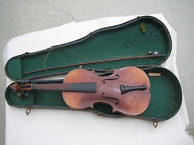 Vtg Copy of Antoniua Stradivarius Violin in Original Case NO Bow
