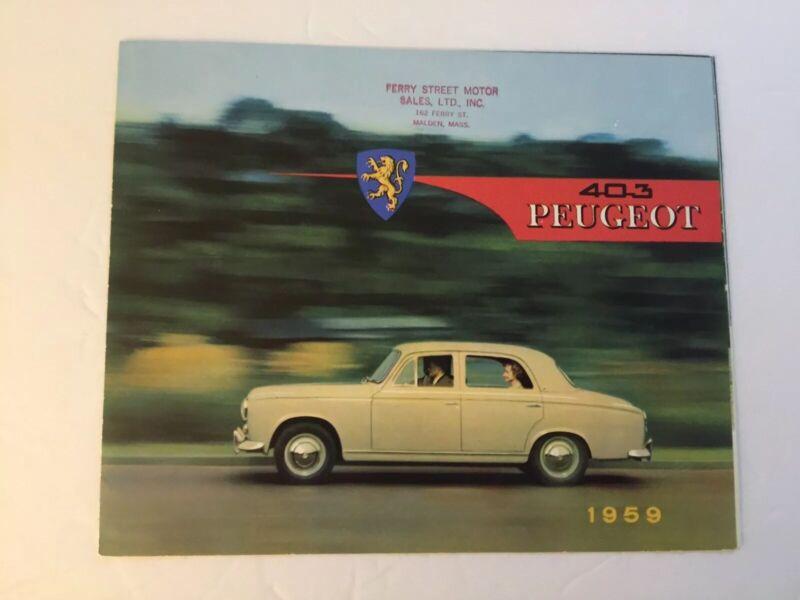 Vintage 1959 Peugeot 403 Brochure