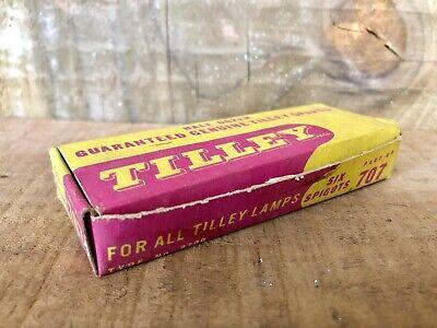 Vintage NOS Caja Llena 6 Genuino TILLEY 707 Cubierta Apoyo Espiga Coleccionable