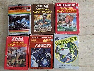 Atari 2600 Boxed Games Bundle. 6 x Boxed Untested Atari Games. FREE UK POSTAGE.