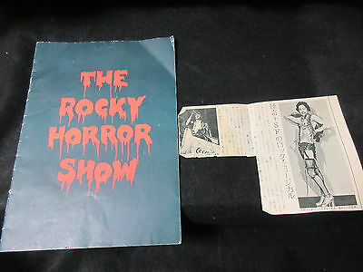 Rocky Horror Show Japan Concert Program Book Signed Copy Ziggy Byfield Glam Rock