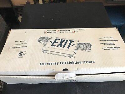Emergency Exit Combo Led Lighting Fixture New