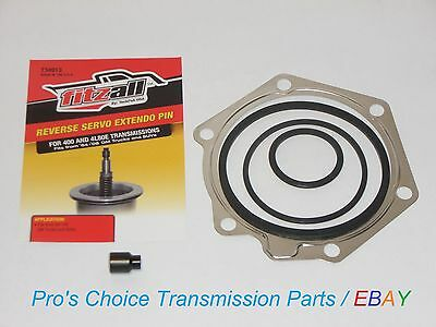 GM 4L80E**REVERSE FIX**Band Servo Piston Apply Pin Extender Cover Gasket & Seals
