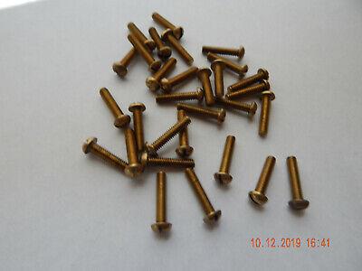 Brass Round Head Slotted Machine Screws 832 X 34 30 Pcs. New-nos