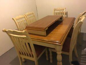 Solid Oak Table and Six Chairs