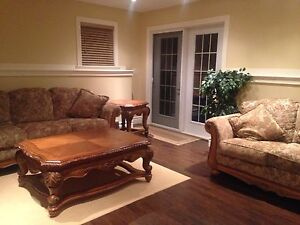 Ashely Furniture Coach, Love Seat, Coffee Tables, End Tables