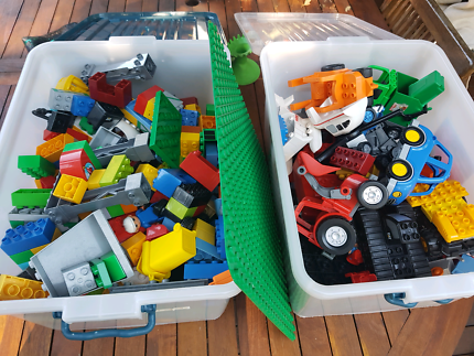 2 Large Crates Of Duplo Lego
