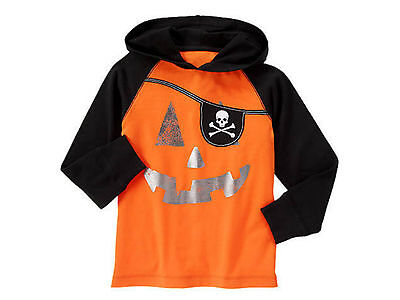 NWT Gymboree Happy Harvest Halloween Pumpkin Pirate Hooded Tee  multiple sizes](Harvest Halloween)