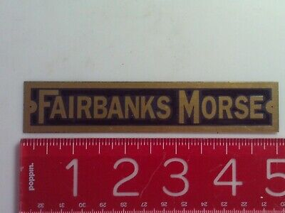 Fairbanks Morse Name Tag Reproduction Nameplate