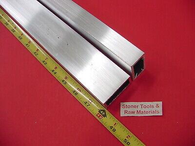 2 Pieces 34x 1-12x 18 Wall Aluminum Rectangle Tube 48 Long 6063 T52