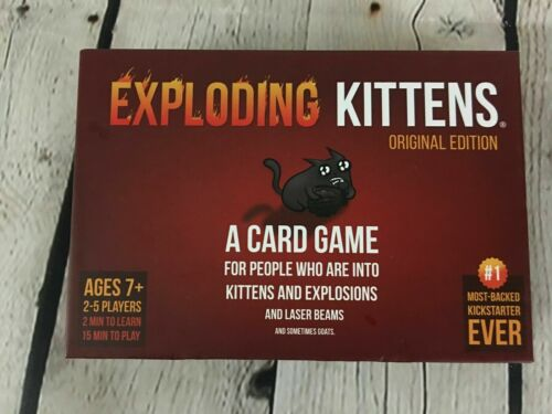 Exploding Kittens Original Edition Family Fun Magic Card Game free delivery