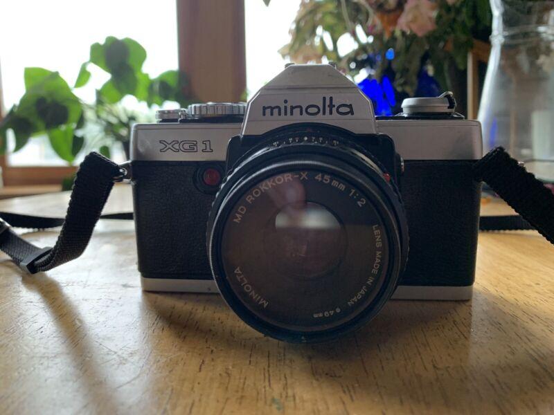 Minolta XG-1 w/ 45mm F2 Lens