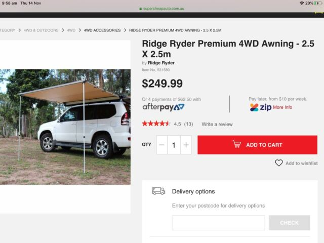 Ridge Ryder vehicle awning | Other Parts & Accessories ...