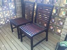 2 good quality Kwila outdoor chairs Golden Beach Caloundra Area Preview