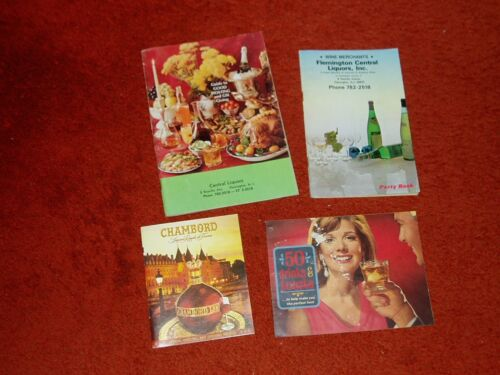 4 Vintage LIQUOR Advertising Booklets, Recipes and Great Pictures of Drinks