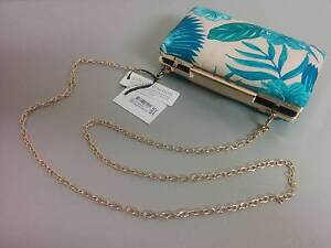 RRP$30 New with Tags Colette Aqua Gold Chain Bag Clutch Purse Strathmore Moonee Valley Preview