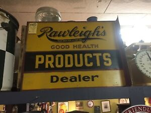 Vintage rawleighs dealer  sign