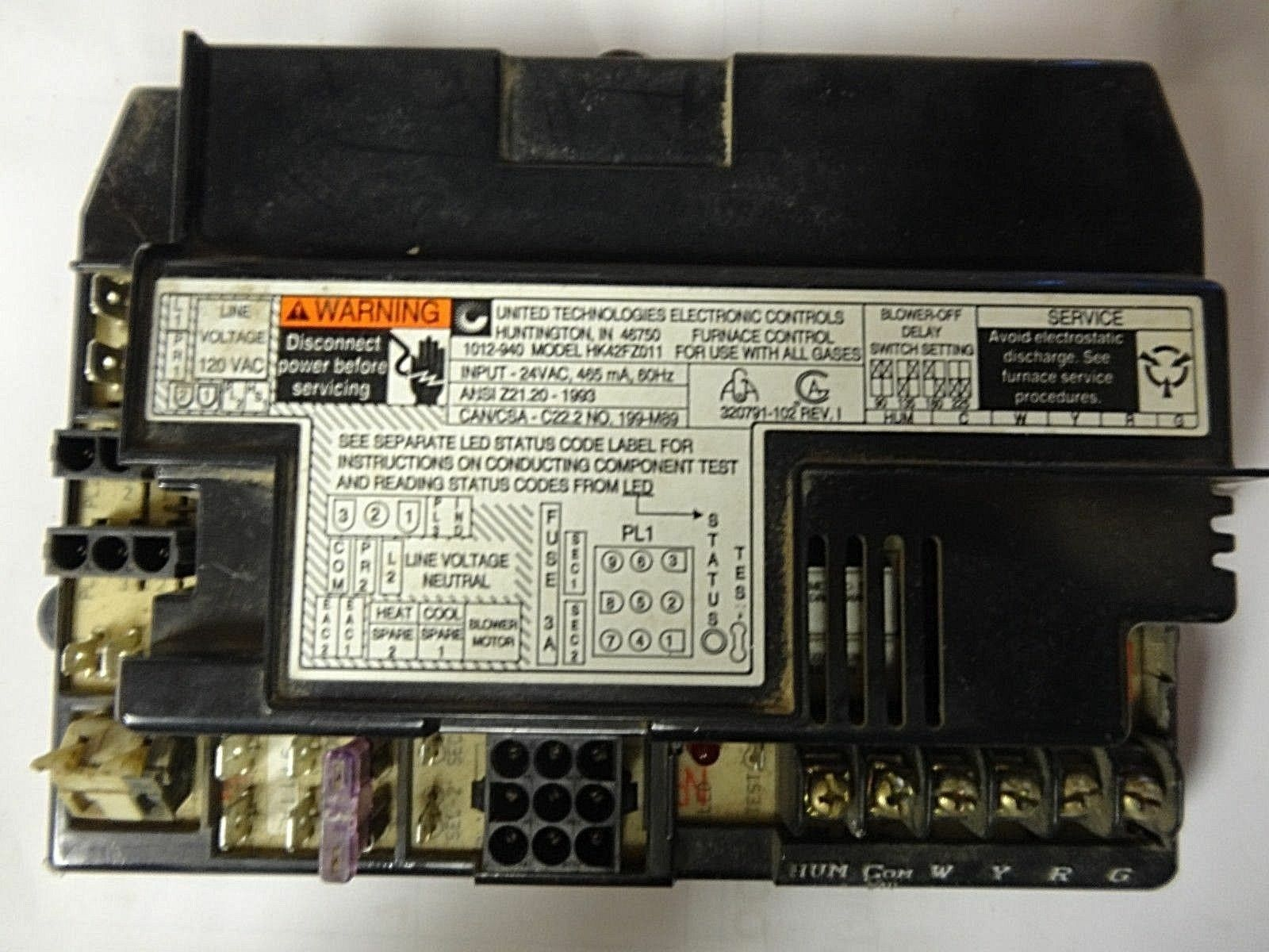 carrier bryant furnace control board hk42fz011 for sale online ebayControl Circuit Board Hk42fz011 Replacement Household Furnace Control #17