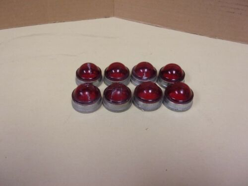 Screw On Red Pilot Light Lens Cover , Lot Of 8