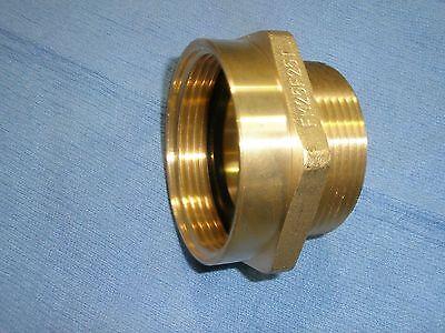 Fire Hose Hex Brass Adapter 2-12 Female Nst X 2-12 Male Ipt Fm25f25t