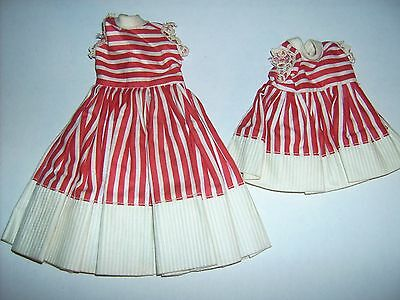 Vtg Vogue Jill & Ginny doll clothes outfit #3338 Red White striped dress 1950's