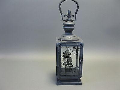 Metall  Laterne Teelichthalter 43cm x 15cm Landhaus Antikstil Vogelkäfig Druck
