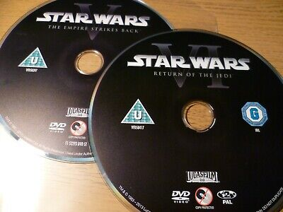 Star Wars The Empire Strikes Back, Return Of The Jedi - DVD DISCS ONLY