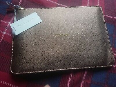Katie Loxton Perfect Pouch Metallic Rose Gold Be Brilliant